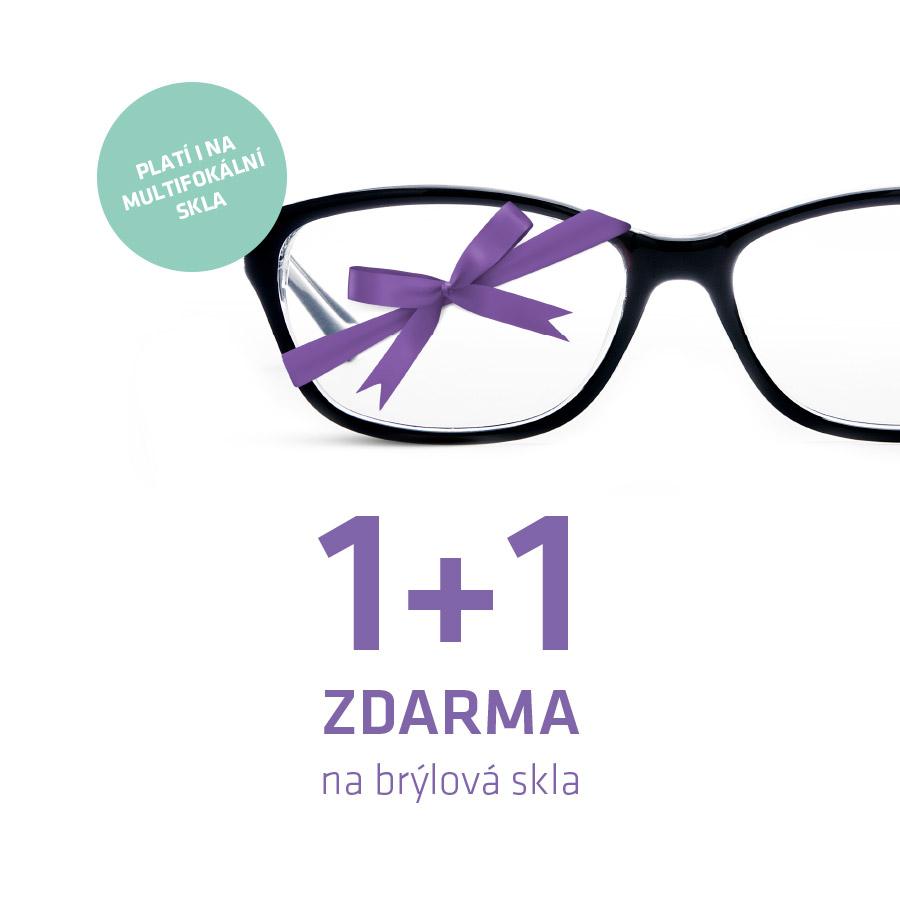 Vizuál 1+1 zdarma na brýlový skla